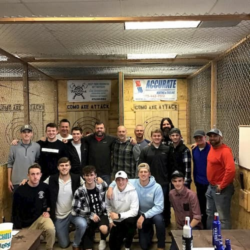bachelor party axe throwing group in Columbia MO