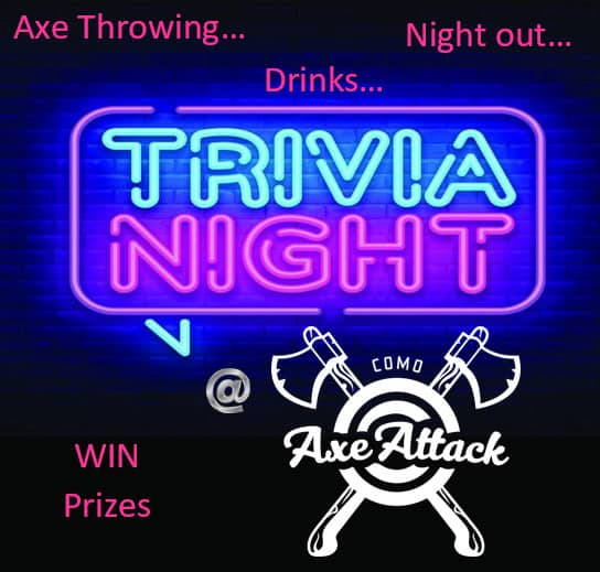 trivia and axe throwing night