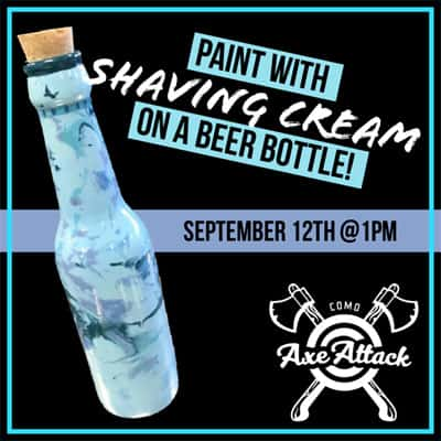 Paint with shaving cream nite at COMO Axe Attack